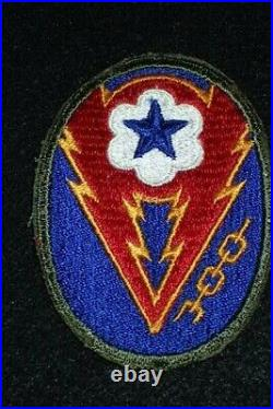 WW2 US Army ETO Advance Base SSI Shoulder Patch Headquarters RARE Variation VG+