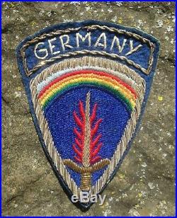 WW2 US Army ETO SHAEF Germany Occupation Officer Grade Bullion SSI Rare Patch