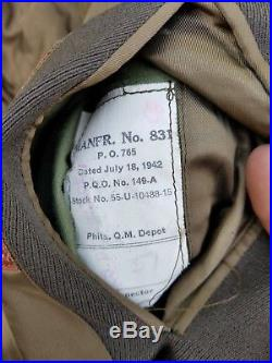 WW2 US Army First Army 16th Corps Captain Tunic+Pinks(Pants & Shirt) 7-1942