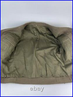 WW2 US Army Ike Jacket With Veteran Pins & Patches Size 38R
