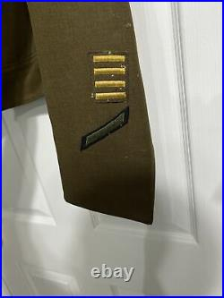 WW2 US Army Jacket Flaming Sword European Patch 1940s Very Small