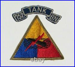 WW2 US Army Military 752nd Tank Battalion Shoulder Sleeve Insignia Patch