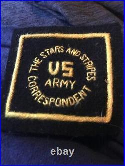 WW2 US Army Military Stars Stripes War Correspondent Theatre Made