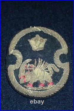 WW2 US Army Mission to Iran SSI Shoulder Patch Bullion Snap Back Original RARE