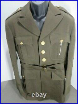 WW2 US Army Officers Uniform Jacket Nice Named with a Great Felt AAF Patch