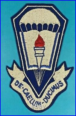 WW2, US Army Parachute School Jacket Patch, Emb. On Felt, Excellent+ Condition