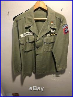 WW2 US Army Shirt with 82nd Airborne And Other Patches