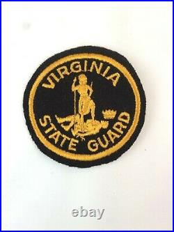 WW2 US Army Virginia State Guard Wool Patch Embroidered HTF Excellent Condition