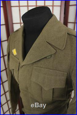 WW2 US Army Wool Eisenhower Ike Jacket World War Two Honorable Discharge Patch