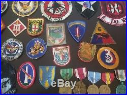 WW2 US Navy Army badges pins stripes bars patches vintage collection military