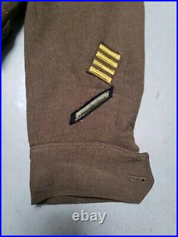 WW2 US Patton 3rd Army EISENHOWER IKE Jacket Honorable Discharge MUC Patch Sz 38