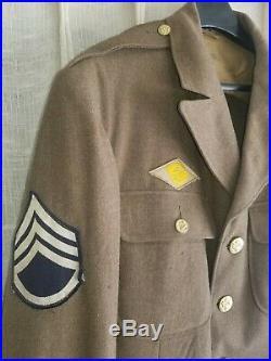 WW2 US US ARMY AIRFORCE DRESS UNIFORM JACKET Brass buttons