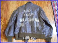 WW2 US army Flight jacket made in Australia A 2 back paint US 36 rare