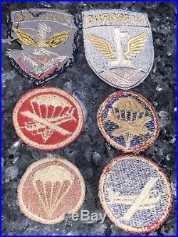 WW2 Us Army Airborne Paratrooper Patch Grouping Lot