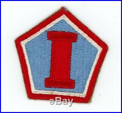 WW2 WWII US 1st Army group RED VARIATION RARE patch SSI