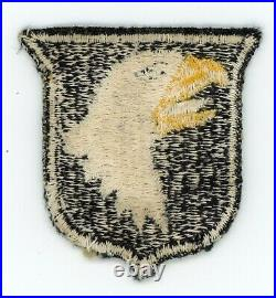 WW2 WWII US Army 101st Airborne Division white tongue variation patch SSI 2 of 2