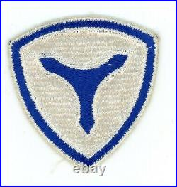 WW2 WWII US Army 3rd Service Command patch SSI (white border variation) RARE