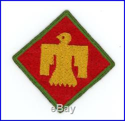 WW2 WWII US Army 45th Infantry Division KELLY GREEN border rare and desirable