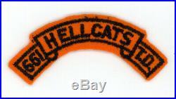 WW2 WWII US Army 661st Tank Destroyer Hellcats tab on wool