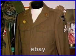 WW2 WWII US Army 99th Infantry Division with Air Corps Patch Ike Jacket Size 38R