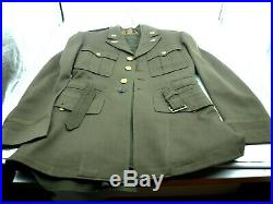 WW2 WWII US Army Air Force Officers Dress Jacket Coat USSAF Blouse Shirt Patches