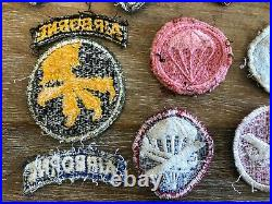 WW2 WWII US Army Airborne patch lot (washed and glow)