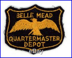 WW2 WWII US Army Belle Mead Quartermaster Depot patch SSI
