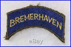 WW2 WWII US Army Bremerhaven tab post war German made