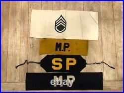 WW2 WWII US Army & Navy Brassards