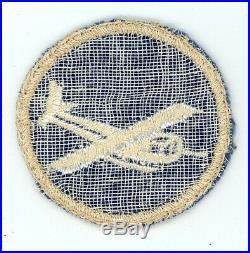 WW2 WWII US Army Quartermaster (buff border) EM Glider cap device