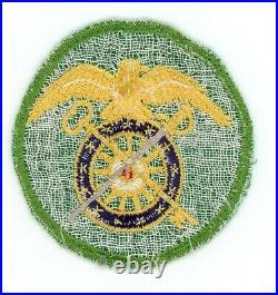WW2 WWII US Army unknown green Quartermaster SSI patch (seldom seen)