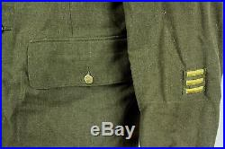 WWII 18th Airborne Vintage US Army Paratrooper Uniform Jacket With Patches Medals