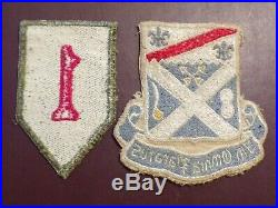 WWII 1st Infantry Patch Italian Made Rare Military 18th Regiment Pocket US Army