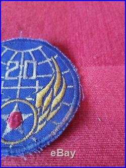 WWII 20th US Army Air Force Theater Made Patch