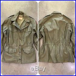WWII 40s IDD WOMENS M1943 Field Jacket US ARMY Combat 10R ARC Patch Duffel Bag