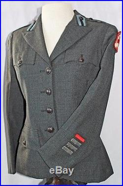 WWII American Red Cross (ARC) Women's Service Tunic with US Army Pacific Patch