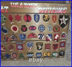 WWII Complete Original Set U. S. Army Divisional Patches 101st many more