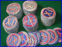WWII Cut Edge Huge Lot of 116 IX Corps US Army Patches SSI Color