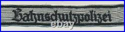 WWII German cuff title patch US Army estate insignia uniform jacket tunic badge