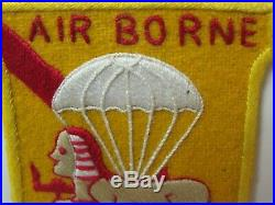 WWII/KW Era US Army 82nd Airborne Div. Military Intelligence Det Hand MadePatch