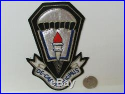 WWII/KW Era US Army Airborne Training School Ft. Benning Tinsel Pocket Patch
