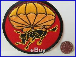 WWII/KW US Army 460th Parachute Field Artillery Bn. Hand Made Pocket Patch