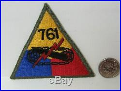 WWII/KW US Army 761st Tank Battalion Hand Made (Afro American Unit) Patch