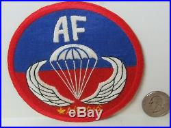 WWII/KW US Army Airborne Training Center Sicily Hand Made Pocket Patch