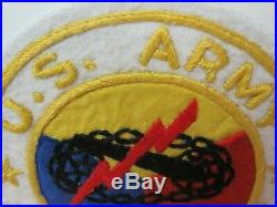 WWII/KW US Army Armored Force Round Center PX Hand Made Pocket Patch