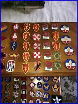 WWII Korea Vietnam US Army Infantry USAAF Patch Lot Of 122 Cut Edge Division AF