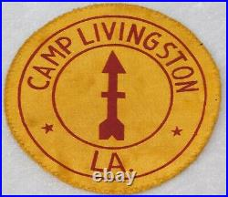 WWII RARE US ARMY 32nd Infantry Camp Livingston LA. Satin Patch 4