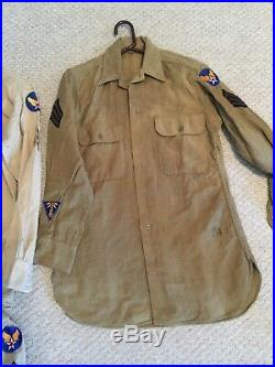 WWII USAAF US Army Air Force UNIFORM SHIRT Patches COMMUNICATIONS SPECIALIST lot