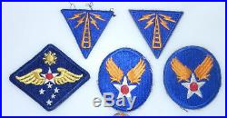 WWII US 2nd- 3rd & 4th ARMY AIR FORCE 101st AIRBORNE -Corps Radio Patches S19A