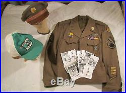 WWII US 8th Army Air Force 305th Bomb Group Ike Jacket Uniform Photos Patch WIA
